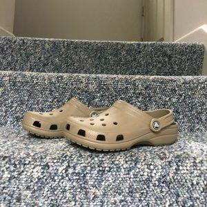 Size 8 Beige Crocs